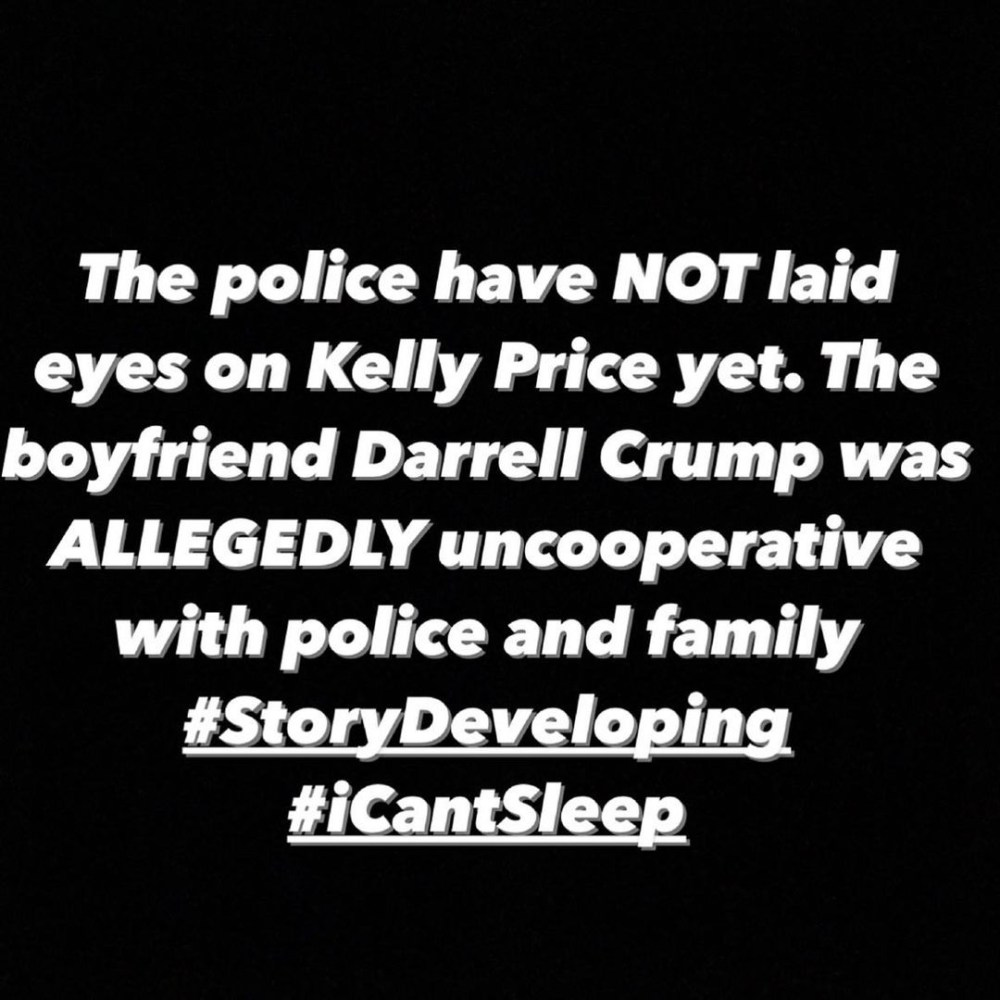 Kelly Price's sister says she still hasn't heard from her, nor has anyone from the family, to not believe the attorney, as Kelly's boyfriend is not being cooperative with the police