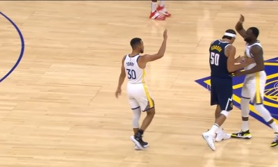 Aaron Gordon stops Steph and Draymond from high-fiving