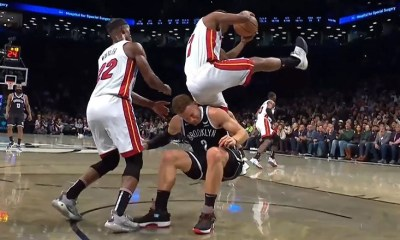 Kyle Lowry nearly breaks his back after a terrible fall