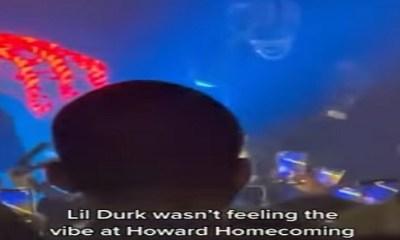 Lil Durk walks off, during Howard University, calls the sound bogus