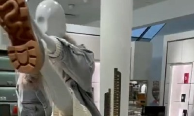 Mannequin goes viral doing the Omarion challenge