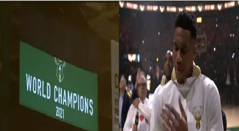 Milwaukee Bucks raise 2021 NBA Championship banner
