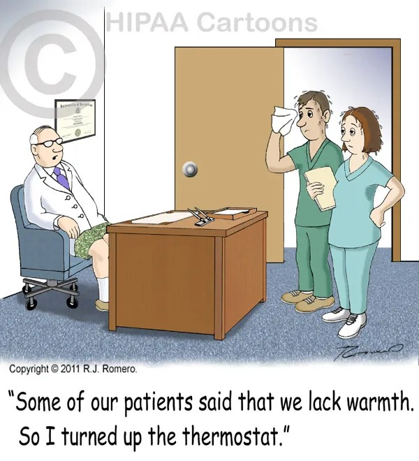 Cartoon-doctor-tells-staff-that-some-patients-said-they-lacked-warmth_e104