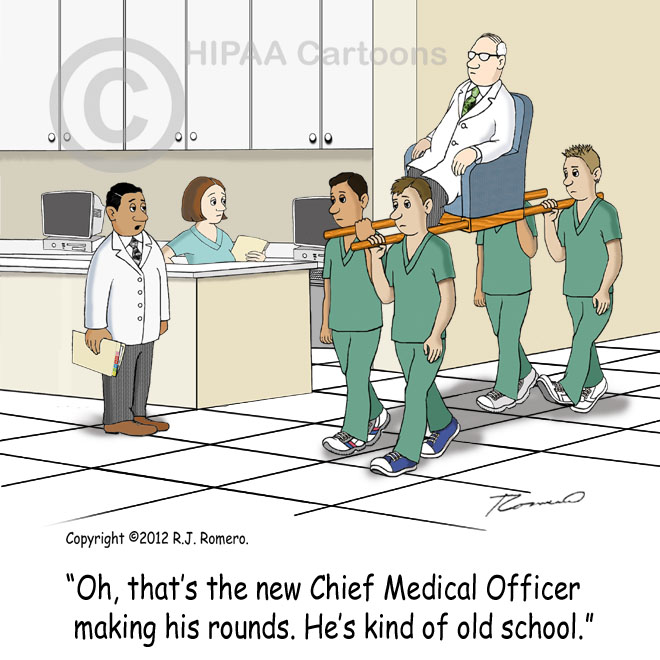 Cartoon-new-chief-of-surgery-gets-carried-by-staff-on-litter_m102