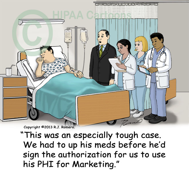 Cartoon-doctor-had-to-raise-meds-patient-to-sign-authorization-for-marketing_p145