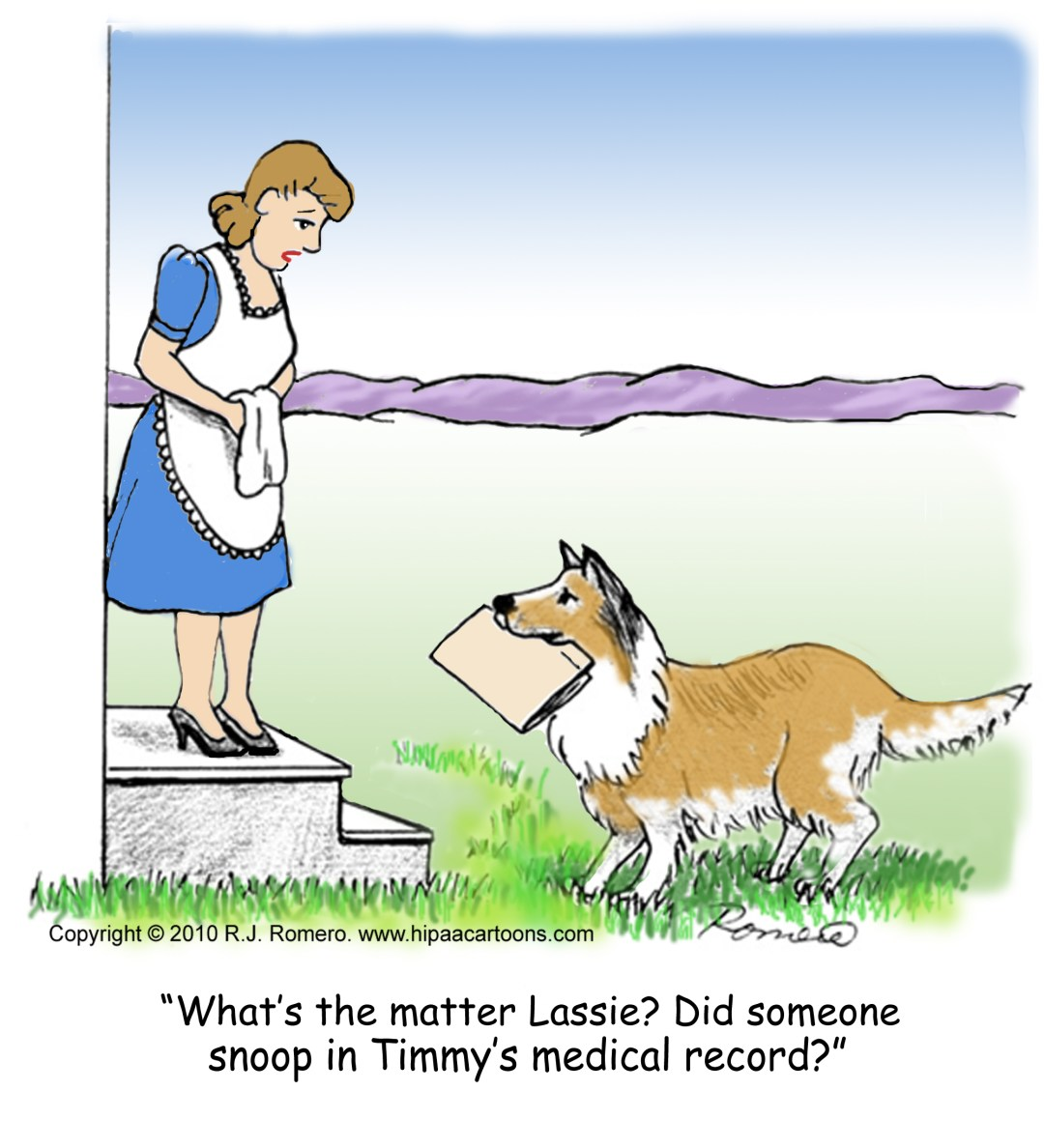 Cartoon-Lassie-holding-medical-record_p109