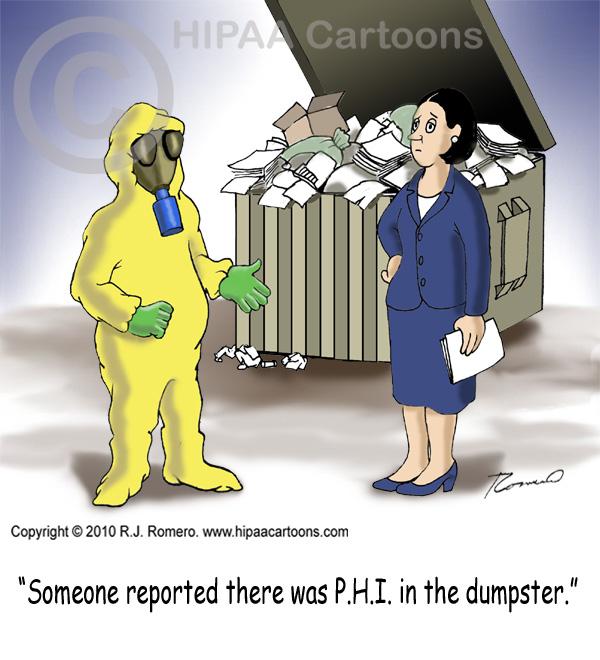 Cartoon-Man-in-hazmat-suit-looks-for-PHI-in-dumpster_p111