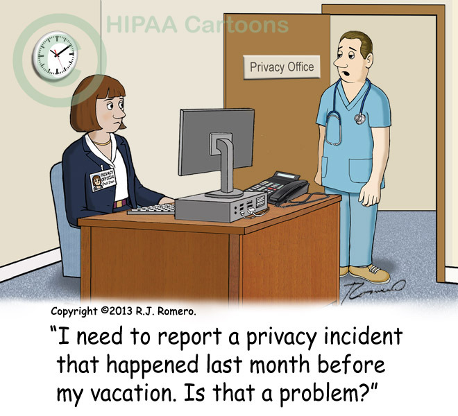 Cartoon-Nurse-reports-privacy-incident-to-privacy-official-late_p151