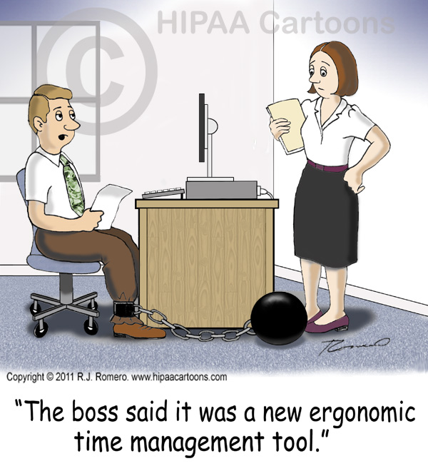Cartoon-man-says-ball-and-chain-is-time-management-tool_b103