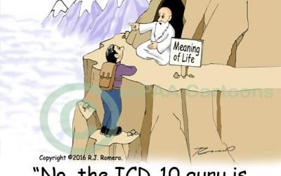 ICD-10 CM-PCS Guru Cartoon