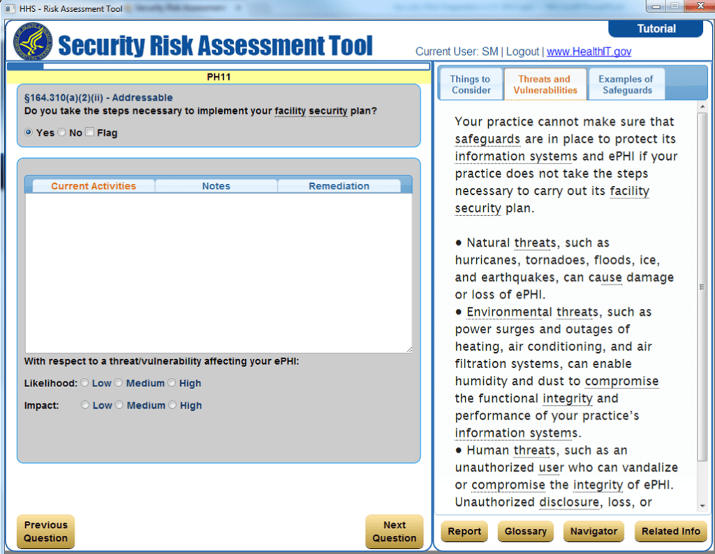 Quick Review Of Hhs S New Hipaa Security Risk Assessment Tool