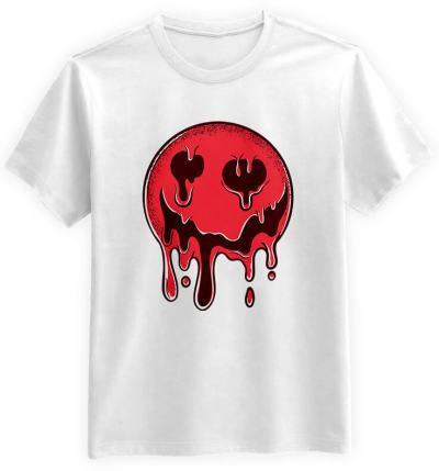 Krwista-Emotka-biala-koszulka-meska