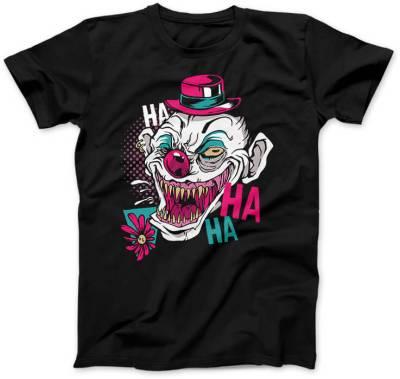 Straszny-Clown-czarna-damska-koszulka