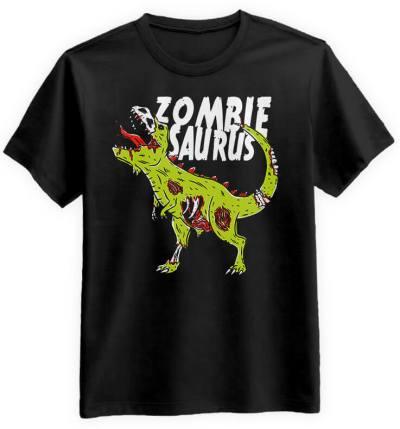 Zombiesaurus-meska-koszulka-czarna