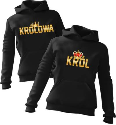 Zestaw bluz z kapturem Król & Królowa