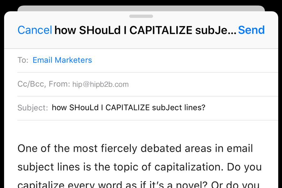 how should you capitalize your email subject lines