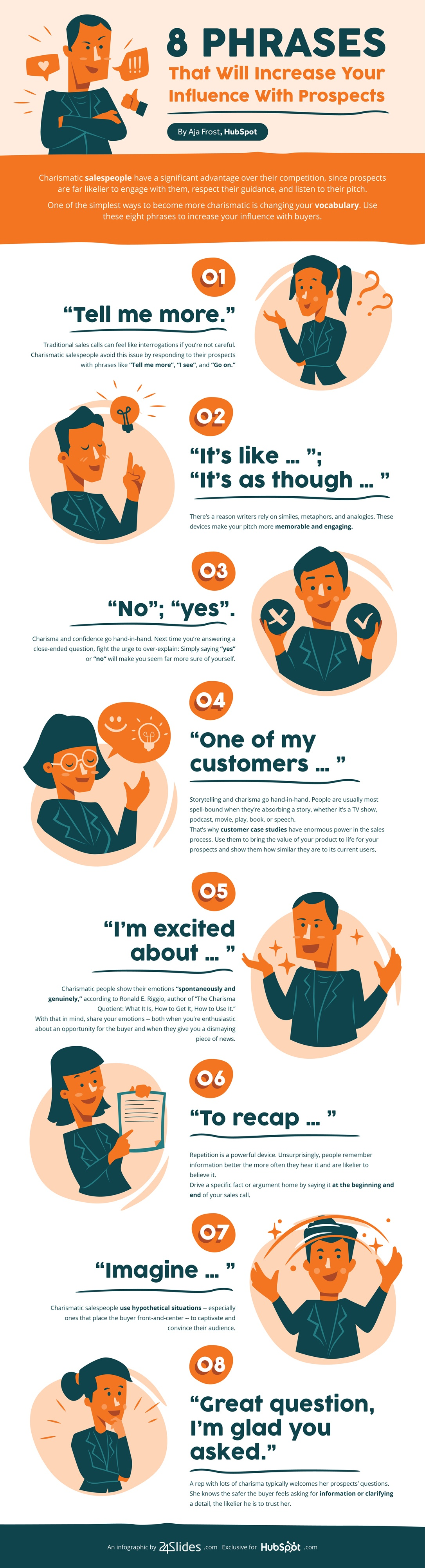 Infographic – 8 Phrases that Will Increase Your Influence with Prospects
