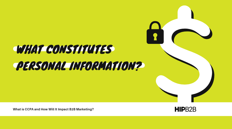 What constitutes personal information