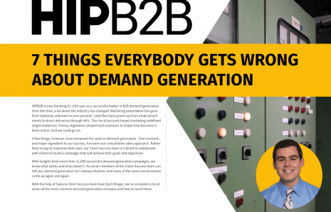 7 Things Everybody Gets Wrong About Demand Generation