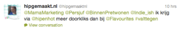 Tweet Hipgemaakt.nl