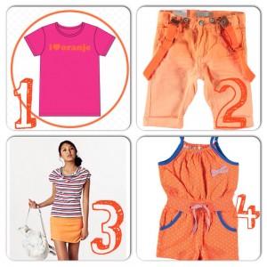 oranje outfit