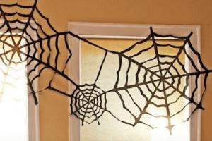 spinnenwebben van vuilniszakken