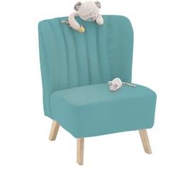 retro stoel blauw