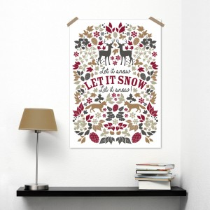 Winter fairytale poster A3 Oktoberdots