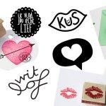 9 x liefdes-stempels voor Valentijnsdag