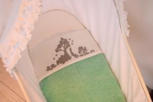 Wieglaken Bosdieren Grijs Wiegdeken Mint Meyco