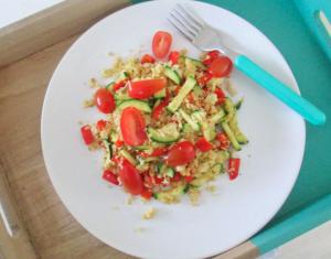 bloemkool met courget en tomaat