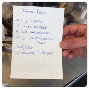 recept zeesla pesto