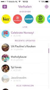 Snapchat vrienden