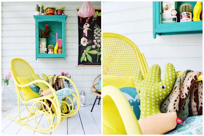 corine veranda gele stoel