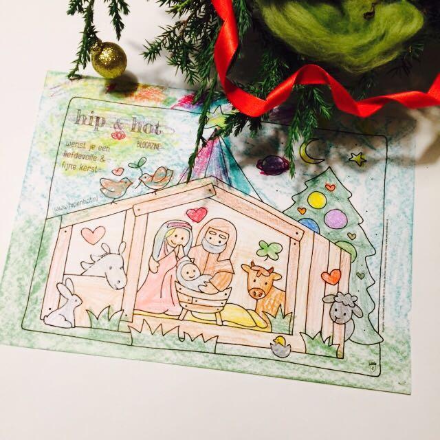 Kleurplaten Kerststallen.Kleurplaat Kerststal Om Te Kleuren Tijdens Of Voor Kerst