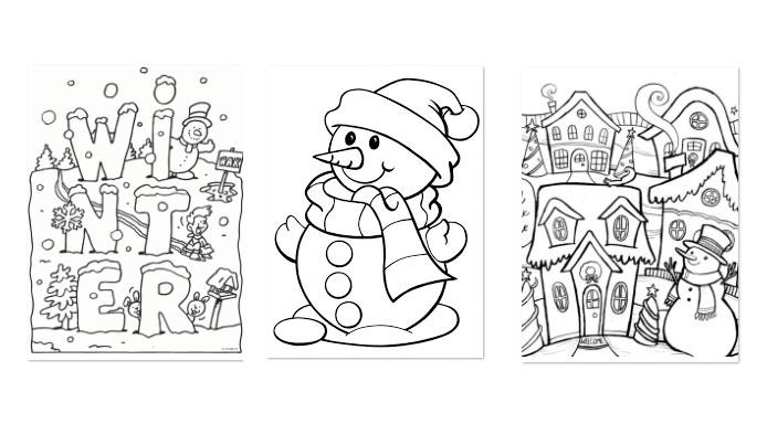Kleurplaten Over Winter.De Leukste Kleurplaten Voor De Winter Hip Hot Blogazine