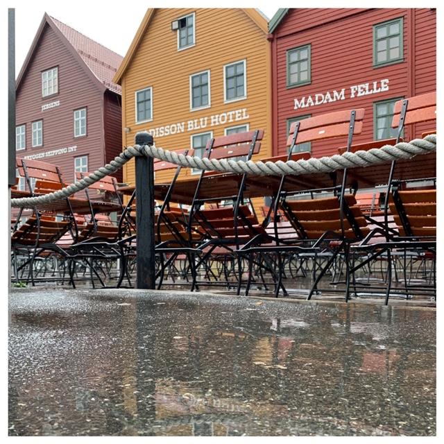 Bryggen terras regen