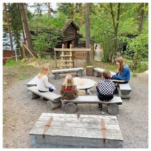openlucht museum Oslo zitten in kring