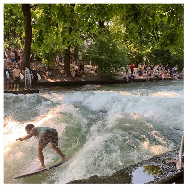 surfen in de stad München