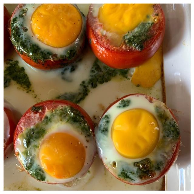 tomaten gevuld uit de oven