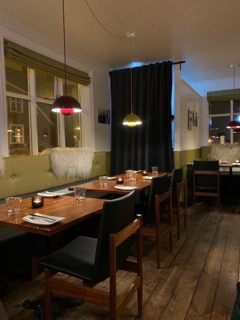Restaurant Nafreyrarstofa interieur