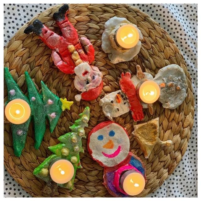 zoutdeeg lichtjes kerstmis