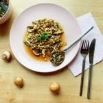 Champignon carpaccio, een vega voorafje