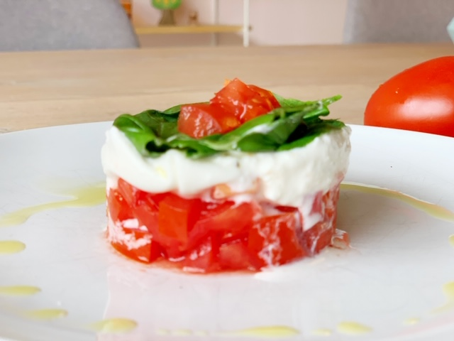 taartje salade caprese recept