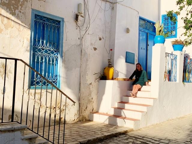 Sidi bou Said op trappetje