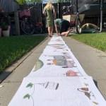 De verhuisdieren, een 4 meter lang prentenboek