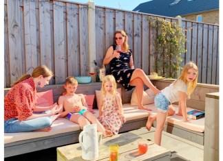 eerste zomerse dag 5 april 2020 gezin