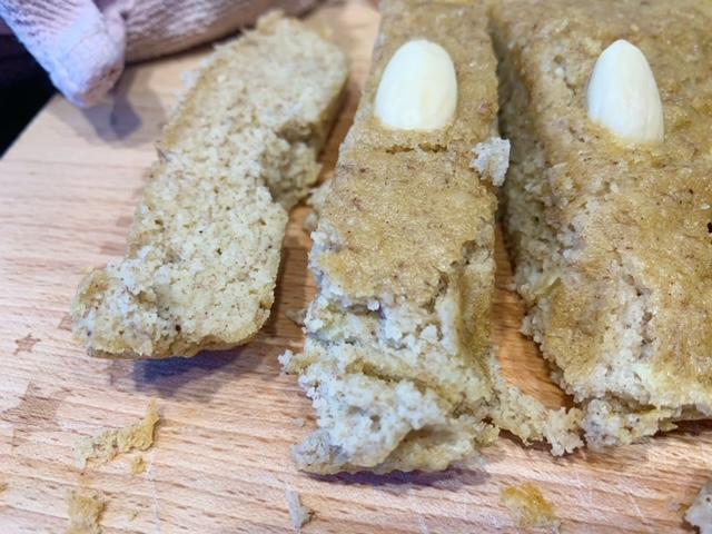 koolhydraat bananenbrood van dichtbij