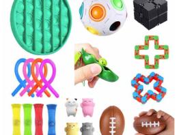 verschillende soorten fidget toys pakket