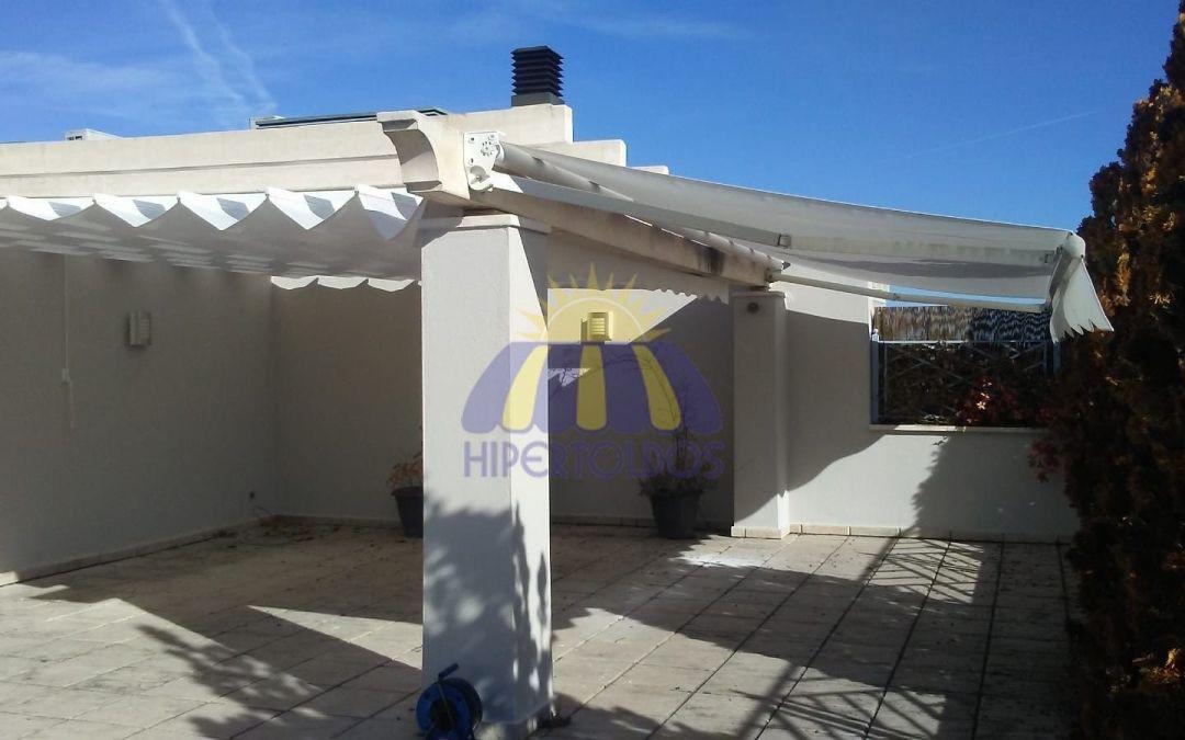 Instalación de Toldo extensible, patio en Aravaca Madrid
